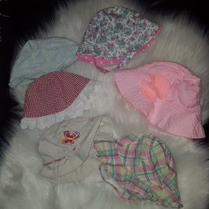 Other - Baby girl 3-6 months sun bonnet bundle of 6